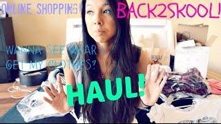 HAUL!! BACK TO SCHOOL/ONLINE SHOPPING! (Forever21, Hollister, Victoria Secret, Brandy melville)