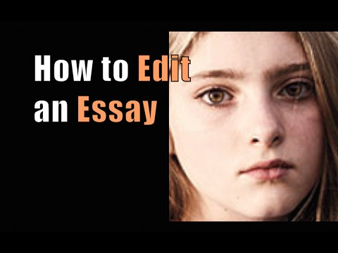 How to Edit an Essay