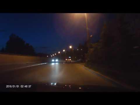 Тестовое видео с регистратора Digma FreeDrive 107 (ночная запись)