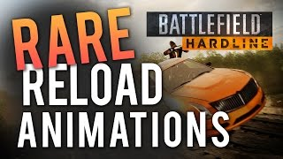 Battlefield Hardline: ALL RARE Reload Animations! (Easter Eggs)