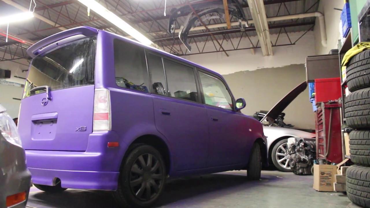 Purple Scion Xb Plasti Dip Youtube