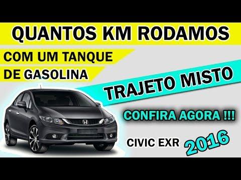 Honda Civic - Autonomia (KM) - | 1 Tanque de Gasolina |