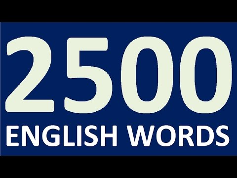 2500 ENGLISH WORDS for speaking English fluently. Learning English. Learn English speaking easily