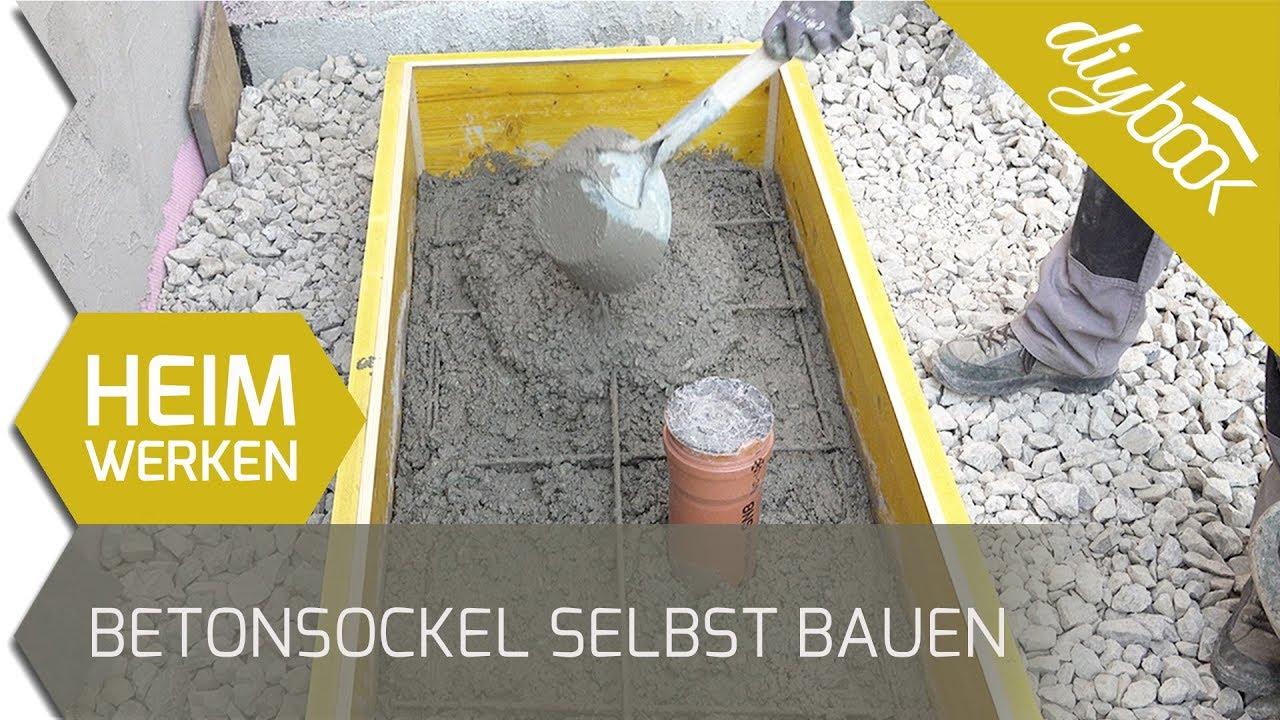 Gut gemocht Betonsockel für eine Wärmepumpe selbst bauen - YouTube EX57