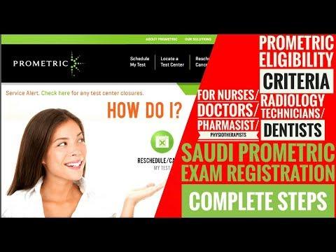 SAUDI PROMETRIC EXAM REGISTRATION ONLINE COMPLETE STEPS ARE