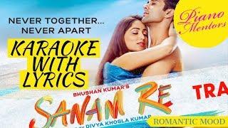 SANAM RE | Title Song | Arijit Singh | Karaoke With Lyrics