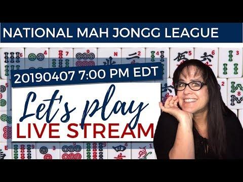 National Mah Jongg League Let's Play Live Stream 20190407 REPOST