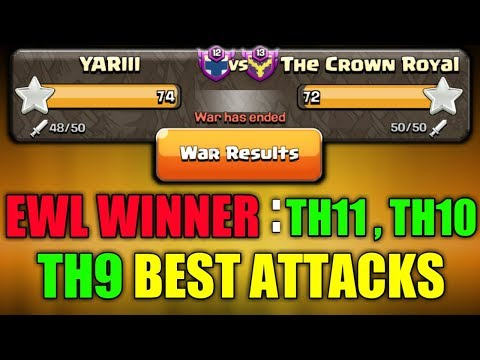 EWL 1st Match WINNER : YARIII (Th11, Th10, Th9) BEST FINAL MATCH ATTACKS | Clash Of Clans