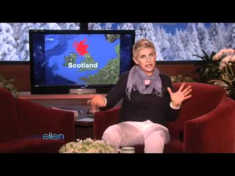 Ellen Reaches Out to Scotland