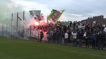 VfL Wolfsburg - Eintracht Braunschweig: Fan Unterstützung beim Abschlusstraining