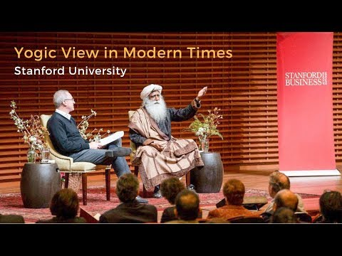 Amazing Talk of Sadhguru & Jonathan Coslet at Stanford University about Yoga in Modern Time