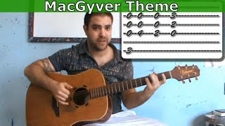 Tutorial: MacGyver Theme - Fingerstyle Guitar w/ TAB