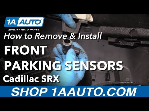 How to Remove Install Parking Sensor 2013 Cadillac SRX