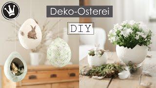DIY - Deko-Osterei aus Toilettenpapier   Basteln mit Papier   Osterdeko   DekoideenReich