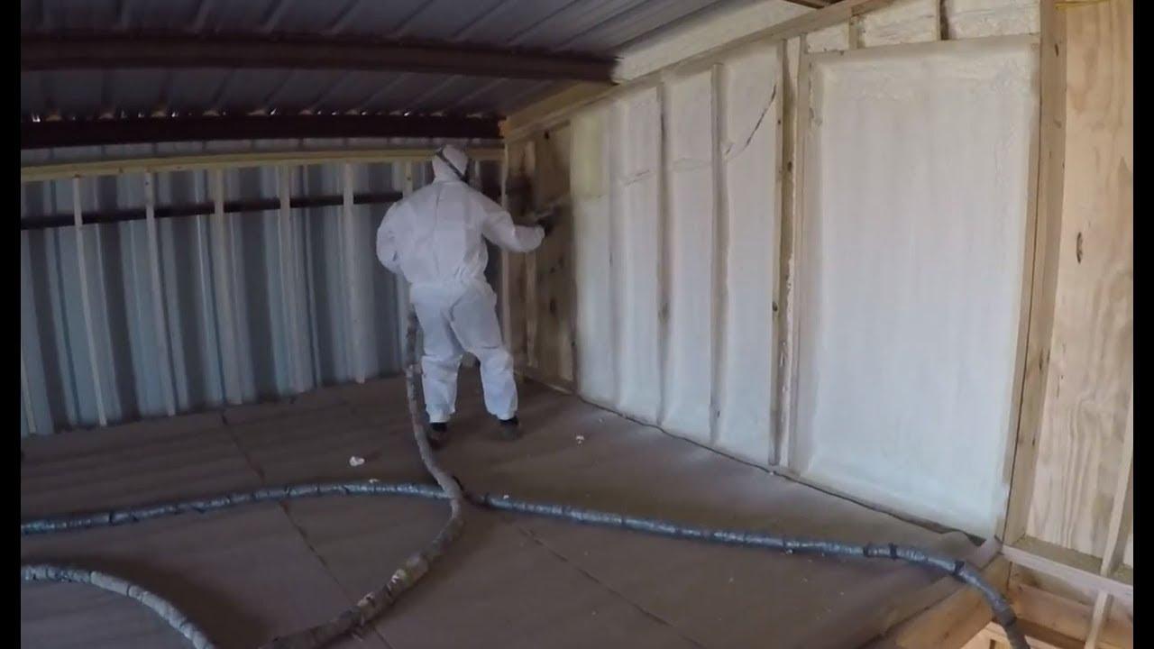 Closed Cell Foam Insulation Barndominium Youtube
