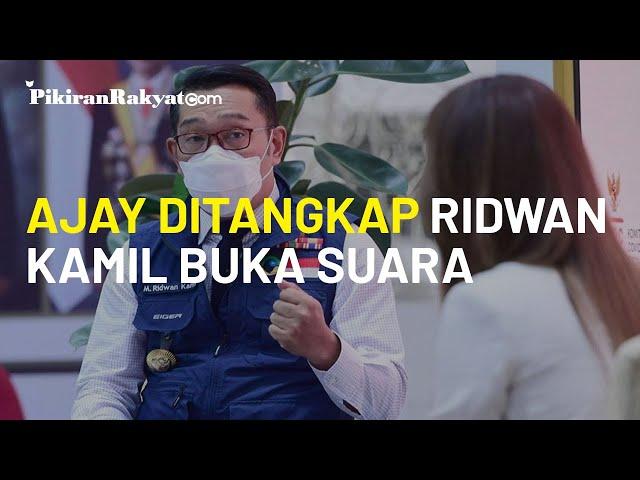 Prihatin atas Ditangkapnya Walkot Cimahi oleh KPK, Ridwan Kamil: Pelajaran bagi Kepala Daerah Lain
