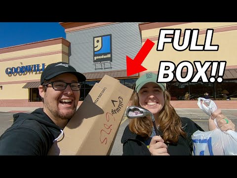 We Bought A FULL BOX OF CALLAWAY Golf Clubs At GOODWILL!!! (Crazy Thrift Store Finds!!)