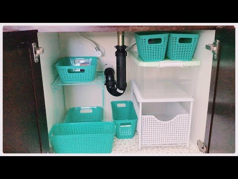 Dollar Store Organizers for Under the Sink & Tight Space Storage Tower