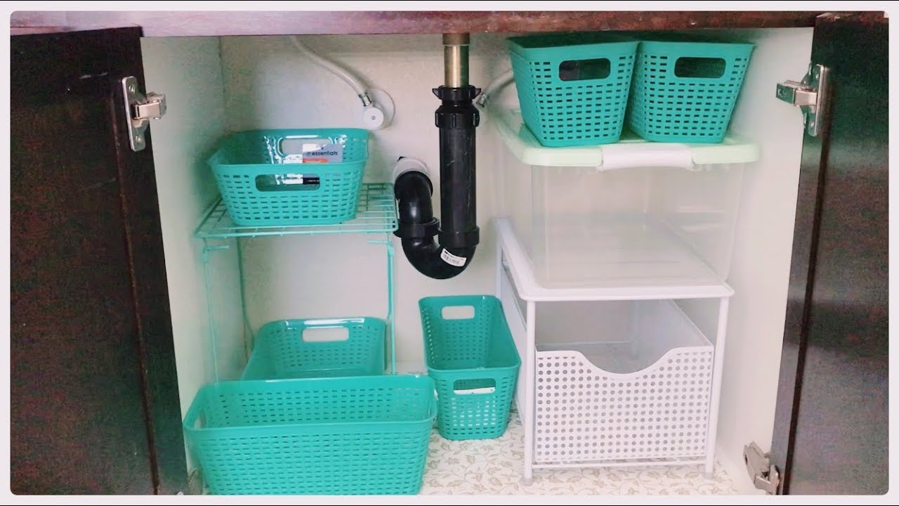 Dollar Store Organizers For Under The Sink Tight Space Storage Tower Youtube,Colors That Go Well With Red Brick Fireplace