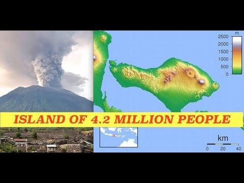 Volcano on Bali Island of 4 Million Erupts Dark Ash 30,000' - Mass Evactuations