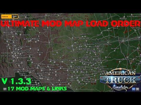 American Truck Simulator | Ultimate Mod Map Load Order & Links V1.33