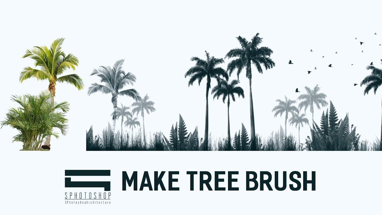 Make Tree Brush Photoshop Photoshop Architecture
