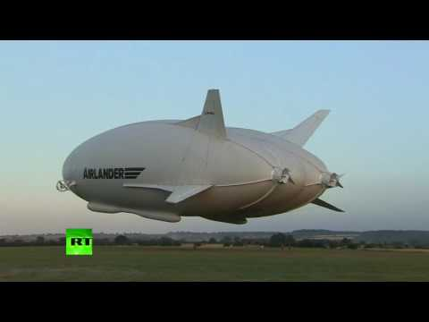 Airlander 10: World's biggest aircraft takes maiden flight in UK