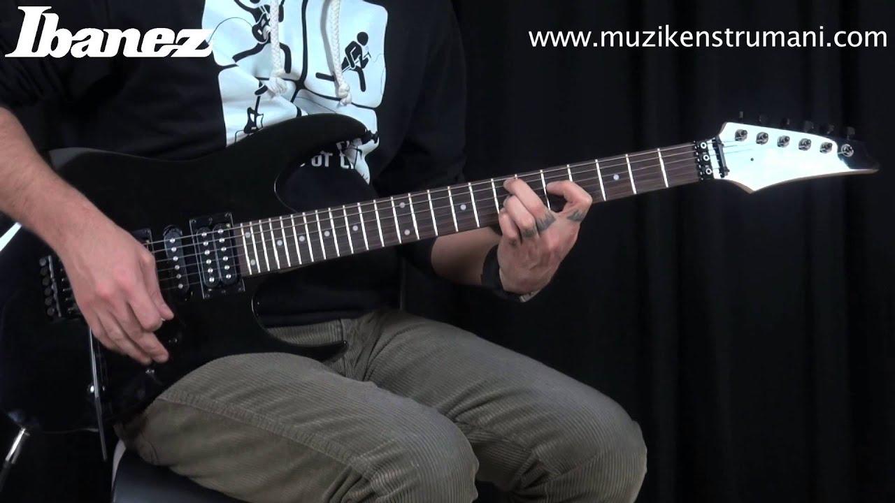 ibanez grg270b bkn elektro gitar youtube