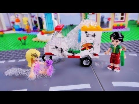 Stephanie new job - Lego Friends Funny story for kids in english ...