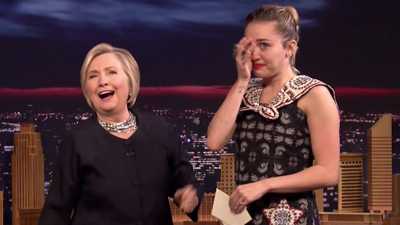 Miley Cyrus finally gets to hug Hillary Clinton, pens emotional thank-you note on 'Fallon'