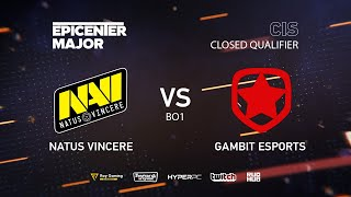 Natus Vincere vs Gambit, EPICENTER Major 2019 CIS Closed Quals , bo1 [4ce & Lex]