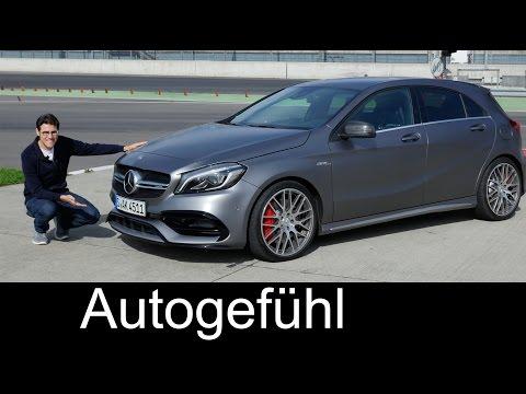 Mercedes-AMG A45 FULL REVIEW test driven A-Class A-Klasse Facelift A200d & A250 Sport all-new neu