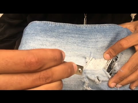 EASY DIY | HOW TO DISTRESS JEANS 👖(2019)