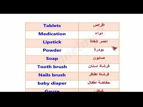 تعلم الانجليزية / كلمات و مصطلحات مفيدة جدا عند ذهابك الى الصيدلية