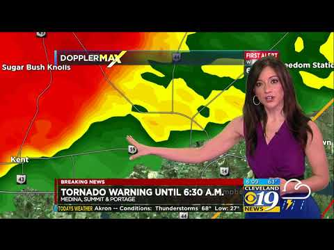 March 1, 2017 Tornado Warning Coverage 2/2 - WOIO Cleveland 19 News