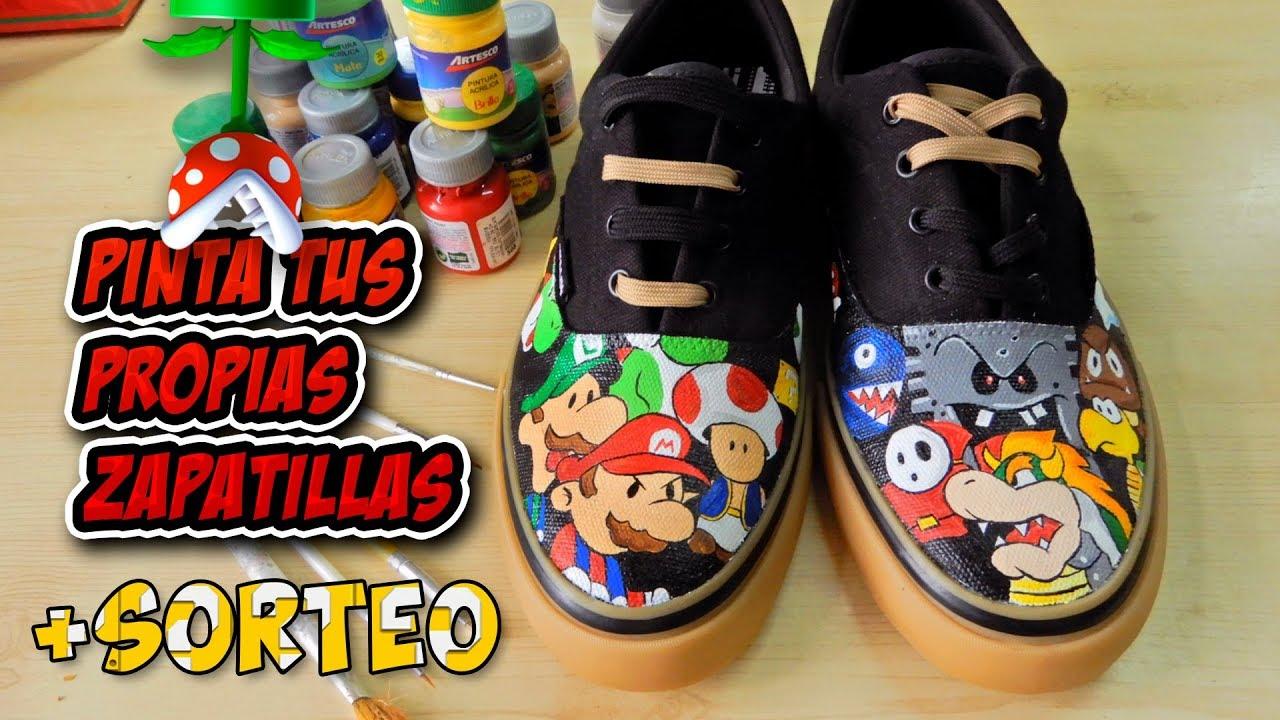Zapatillas Como Pintar Y Bros Pinturas Textiles Acrílicas Mario Tus De XPkiuZ