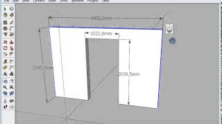 Коррекция размеров в SketchUp