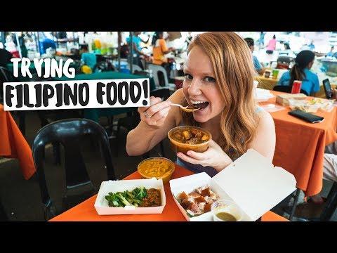 Americans Try FILIPINO FOOD! Kare Kare, Lechon, Kaldereta and Binagoongan! 馃嵈