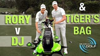 Carrying TIGER WOODS Bag & DUSTIN VS RORY Long Drive! | ME AND MY GOLF