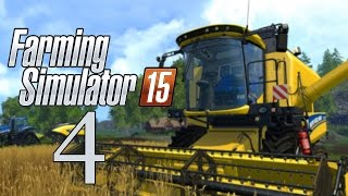 Let's Play Farming Simulator 15 - Part 4 - Tree Cutting & New Fields
