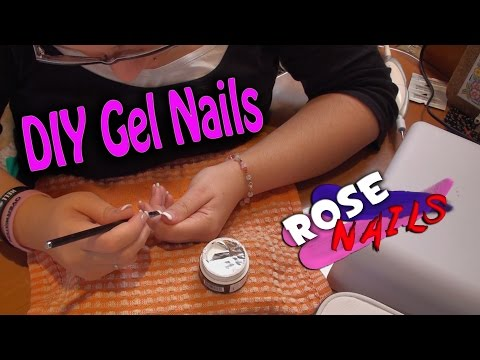 Rose Nails | DIY Gel Nails | Εφαρμογή Gel για αρχάριες [Greek]