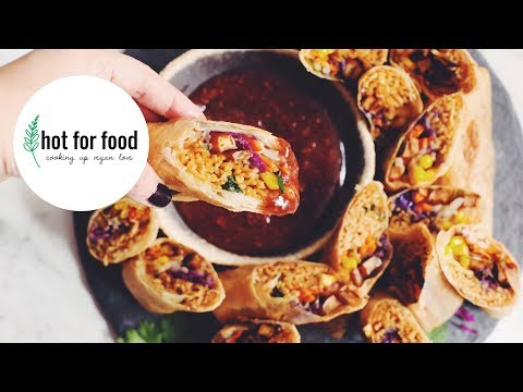 vegan ramen spring rolls | hot for food