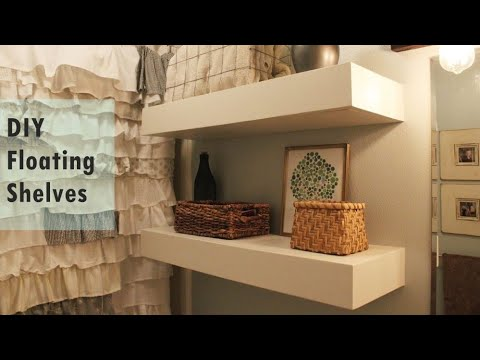 Diy Bathroom Floating Shelves Above Toilet Ingenious Storage Youtube