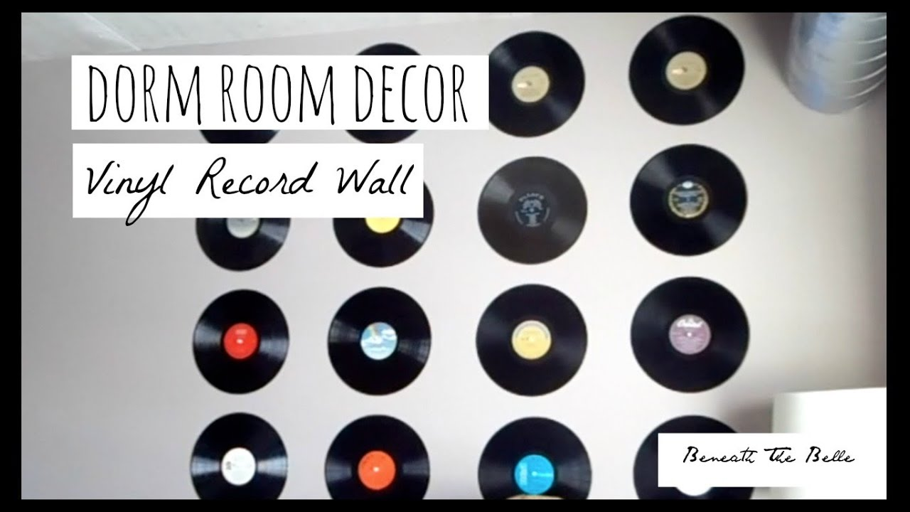 Dorm Room Decor Diy Vinyl Record Wall Youtube