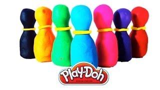 Play doh, Маша и медведь, Masha i medved Играем в кегли  Плей до