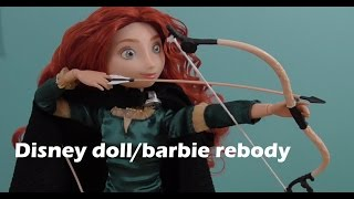 How To: rebody a disney doll with a barbie body.