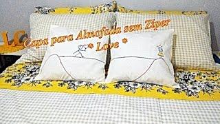 Capa para Almofada sem Zíper muito fácil