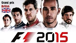 F1 2015 championship season - PC Gameplay - Grand prix British  (PC UltraHD, 2560x1080, 60 fps)