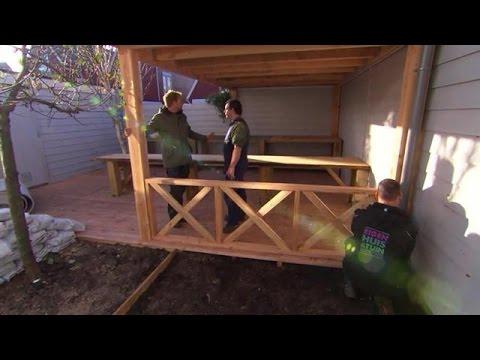 Tuin Met Overkapping : Zelf een overkapping plaatsen eigen huis tuin youtube