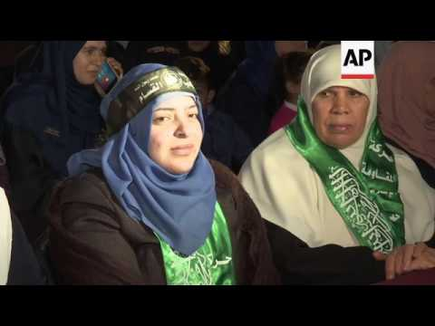 Hamas ceremony for 'assassinated' leader